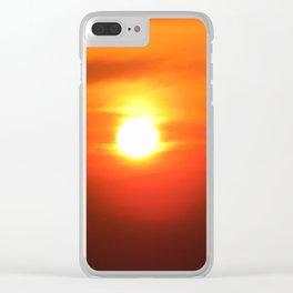 Bird Seeking Fire Clear iPhone Case