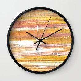 Gold abstract watercolor Wall Clock