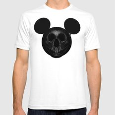 Mickey Mens Fitted Tee White LARGE