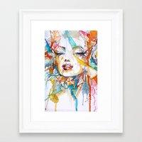 marylin monroe Framed Art Prints featuring Marylin Monroe by Maria Zborovska