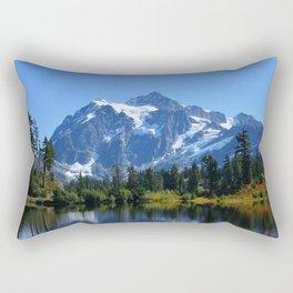 Mount Shuksan from Picture Lake Rectangular Pillow