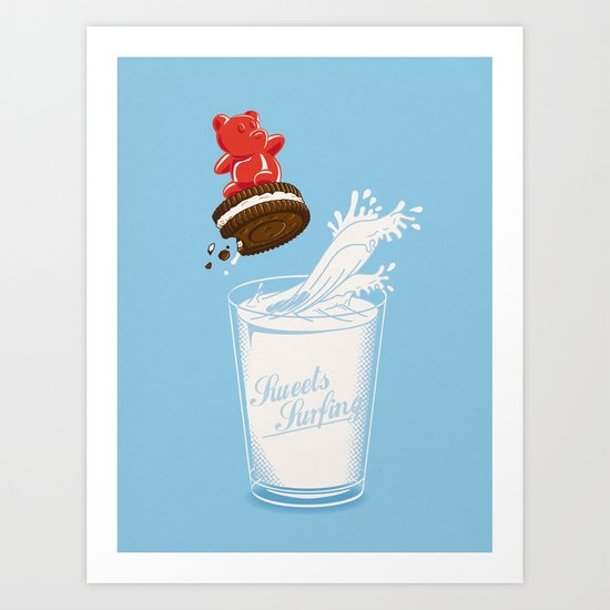Sweets Surfing Art Print