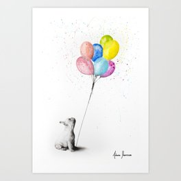 The French Bulldog and The Balloons Art Print