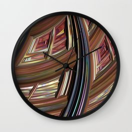 Striped Weave Wall Clock