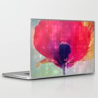 mod Laptop & iPad Skins featuring Mod Poppy by V. Sanderson / Chickens in the Trees