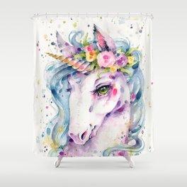 Little Unicorn Shower Curtain