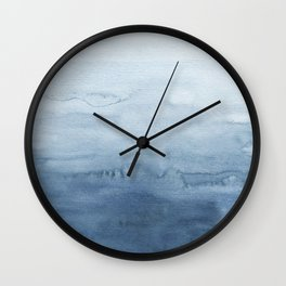 Indigo Abstract Painting | No. 4 Wall Clock