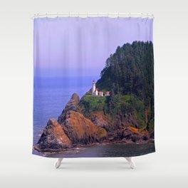 Haceta Head Lighthouse Shower Curtain