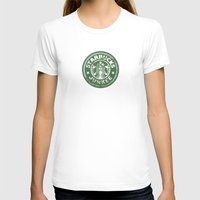 starbucks T-shirts featuring Starbucks Junkee by Snorting Pixels