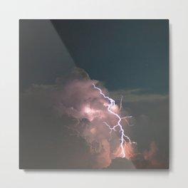 Night Explosions - V02 Metal Print