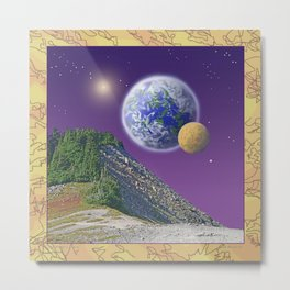 "NO WORLD IS ""ALIEN"" Metal Print"