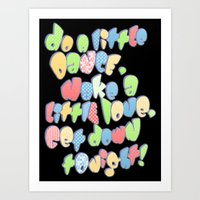 Do a little dance... Art Print