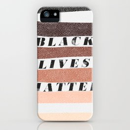 End racism now, all black lives matter iPhone Case