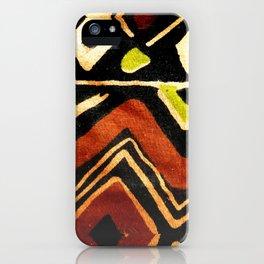 Africa Design Fabric Texture iPhone Case