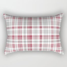 Bama crimson tide college state pattern print university of alabama varsity alumni gifts plaid Rectangular Pillow