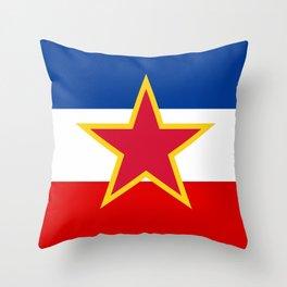 Yugoslavia National Flag Throw Pillow