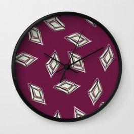 Rhombus jewel Wall Clock