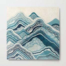 Blue Mountain Hike Metal Print