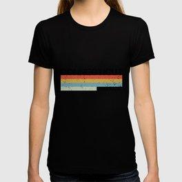 Retro Vintage Stripes Connecticut Gift & Souvenir Print T-shirt