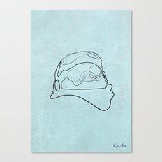 One line Porco Rosso (blue) Canvas Print