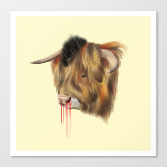 The Bull Canvas Print