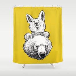 foxbear Shower Curtain