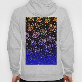 rose pattern texture abstract background in blue and red Hoody