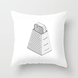 Clever Shirts Ban Shredded Cheese Make America Grate Again Funny Sarcastic Gift Throw Pillow