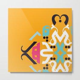 Orange Arabic Metal Print