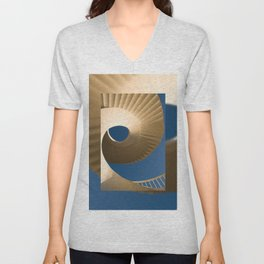 bottom view at twisted stairs Unisex V-Neck