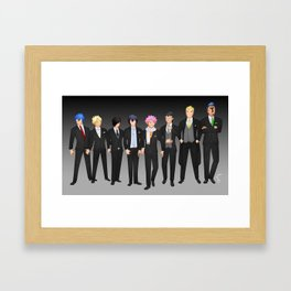 FT boys suits Framed Art Print