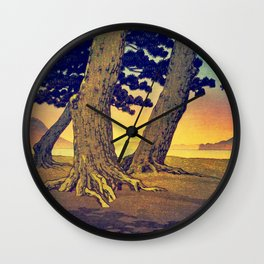 Domi's Heart at Sunset Wall Clock