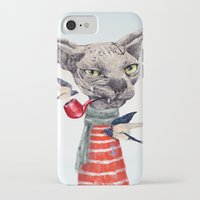 jazzberry iPhone & iPod Cases featuring Sphynx cat by dogooder