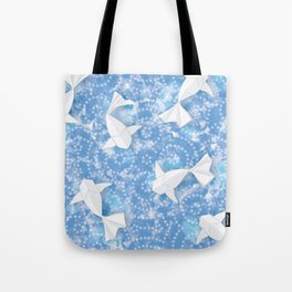 Origami Koi Fishes (Sky Pond Version) Tote Bag