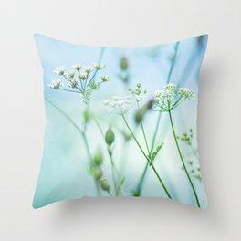 summer sun (green grass) Throw Pillow