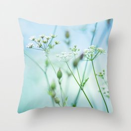 summer sun (green grass) Throw Pillow