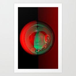 light, glass and colors -2- Art Print
