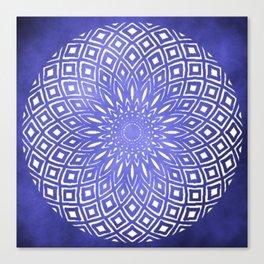 Dark Cloud Mandala Canvas Print