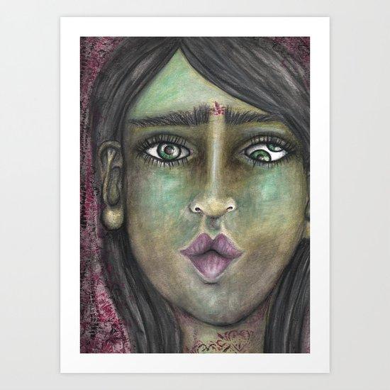 Double Eye Art Print