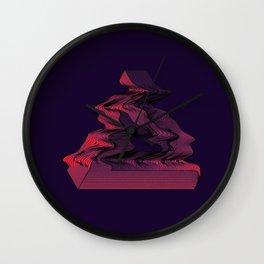Penrose Distortion (Dark) Wall Clock