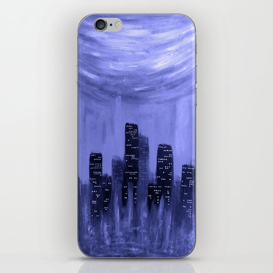 City of Fire ~ Blue  iPhone & iPod Skin