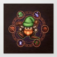 gnome Canvas Prints featuring Gnome  by likelikes