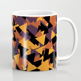 October Fall Season Pattern Halloween Mountain Triangle Coffee Mug