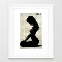silhouette Framed Art Prints featuring silhouette by LouiJoverArt