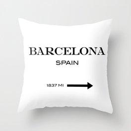 Barcelona - Spain Throw Pillow