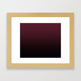 Burgundy Wine Ombre Gradient Framed Art Print