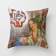 Folk Women Throw Pillow