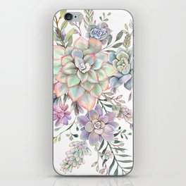succulent watercolor 8 iPhone Skin
