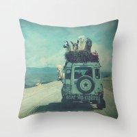 never stop exploring Throw Pillows featuring NEVER STOP EXPLORING II by Monika Strigel