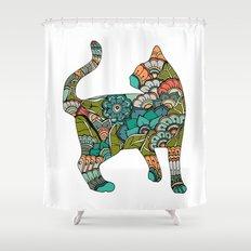 Vegetarian cat Shower Curtain